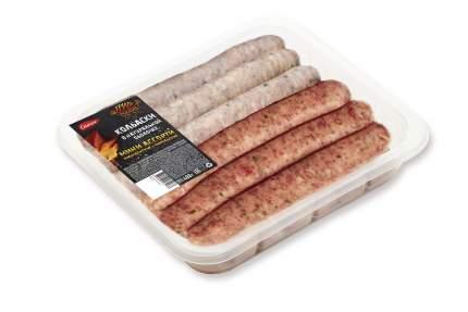Колбаски свиные и говяжьи Самсон Мини ассорти Мюнхенские + Тирольские охлажденные 400 г
