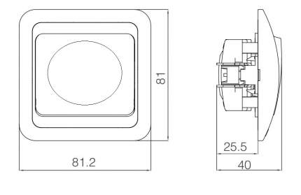 Диммер 400W с дистанционным управлением, белый Mimoza