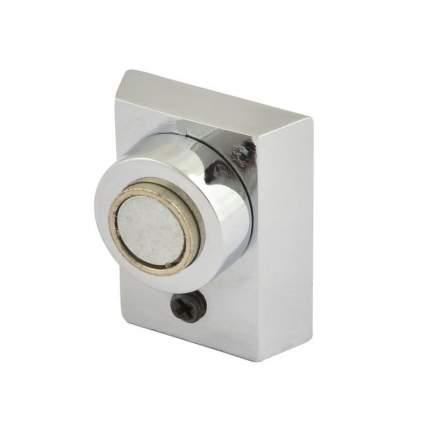 Ограничитель двери НОРА-М 801 магнитный, напольный - Хром
