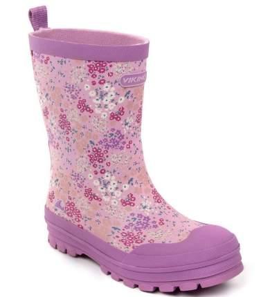 Сапоги резиновые для девочек Viking цв. фиолетовый р-р. 33