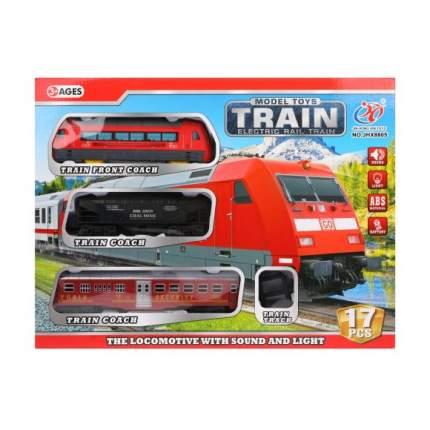 Железнодорожный набор Наша Игрушка свет, звук, 17 предметов JHX8805