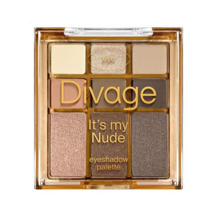 Палетка теней Divage для век Palettes It`s My Nude Тон It's my nude