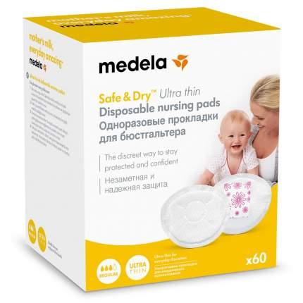 Прокладки одноразовые грудные Medela new ультротонкие 60 штук