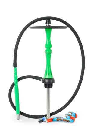 Кальян Alpha Hookah Kappa green fluor (без колбы) с персональным мундштуком Watta