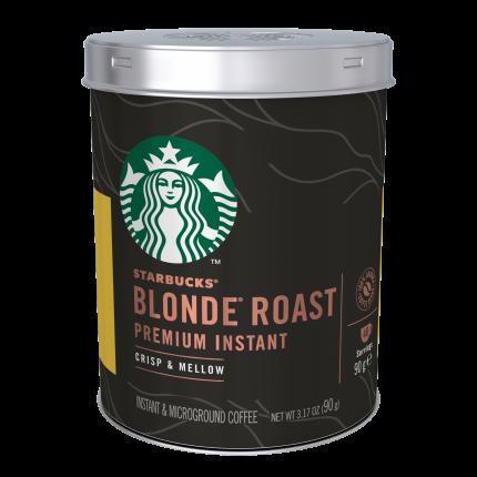 STARBUCKS BLONDE Roast, кофе натуральный растворимый, светлая обжарка, 90 г