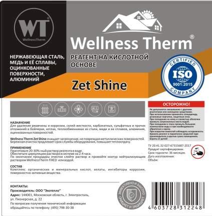 Реагент на кислотной основе WellnessTherm ZET SHINE 10л.