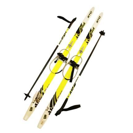 Лыжный комплект (лыжи + палки + крепления) с кабельным креплением 130 STC степ KID Lemon