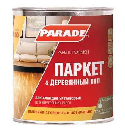 Лак паркетный алкидно-уретановый PARADE L10 Паркет &Деревянный пол Полуматовый 0,75л