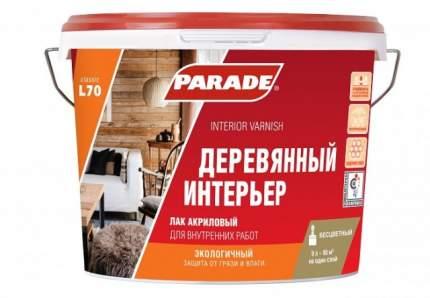Лак акриловый PARADE L70 Деревянный интерьер Матовый 9л