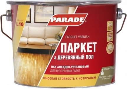 Лак паркетный алкидно-уретановый PARADE L10 Паркет &Деревянный пол Полуматовый 2,5л