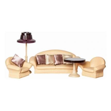 Коллекция для гостиной комнаты для кукольного дома Огонек