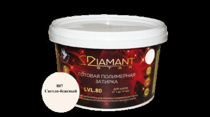 Готовая полимерная затирка Diamant Star lvl.80, цвет светло-бежевый 807