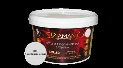 Готовая полимерная затирка Diamant Star lvl.80, цвет серебристо-серый 804