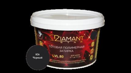 Готовая полимерная затирка Diamant Star lvl.80, цвет черный 826