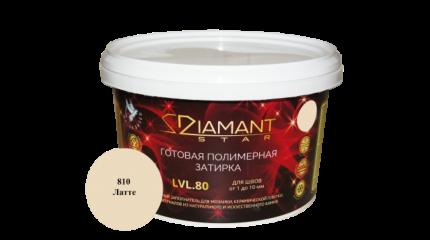 Готовая полимерная затирка Diamant Star lvl.80, цвет латте 810