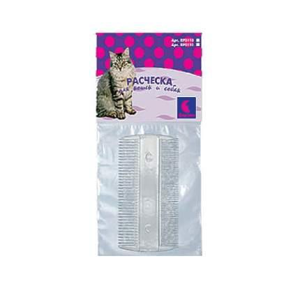 Расческа для кошки, собаки Дарэлл пластик, цвет серый, 9,5х5х0,2 см