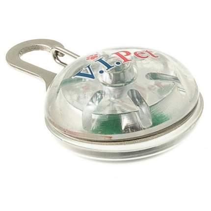 Подвеска-маячок для собак V.I.Pet круг, пластик