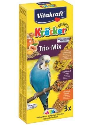 Лакомство для волнистых попугаев VITAKRAFT крекеры, мед яйцо фрукты