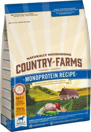 Сухой корм для щенков Country Farms Monoprotein Recipe,полнорационный, курица, 2.5кг