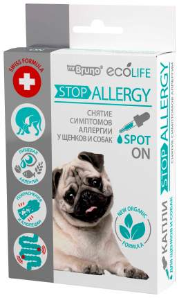 Арома-капли для щенков и собак Mr. Bruno Ecolife Стоп Аллергия, 10 мл, 40 гр