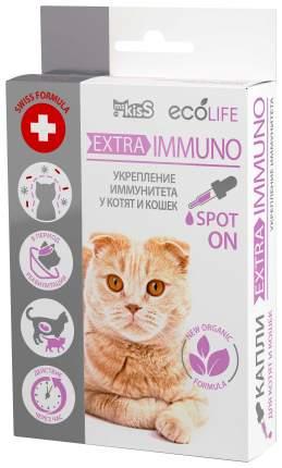 "Капли для котят и кошек для укрепления иммунитета Ms. Kiss Ecolife ""Extra-Immuno"", 10 мл"