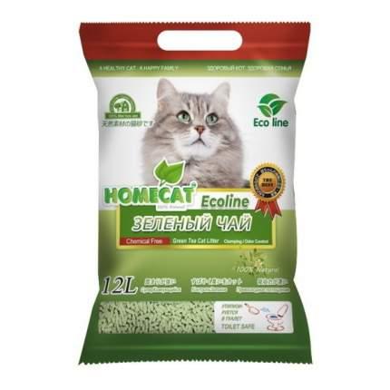 Комкующийся наполнитель HOMECAT кукурузный, зеленый чай, 5.6 кг, 12 л,