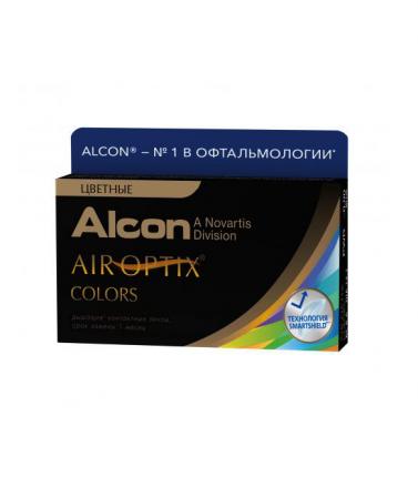 Контактные линзы Air Optix Alcon Colors 2 линзы R 8,6 D -0.00 brown