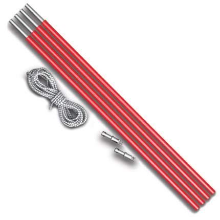 Ремкомплект алюминиевых дуг для палаток Tramp (4 секции + резинка)