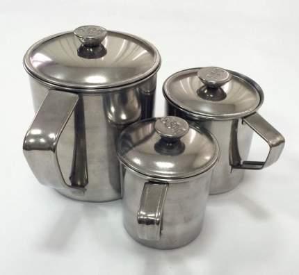 Кружка с крышкой из нержавеющей стали, 12,5 см, 1,35 литра