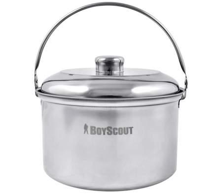"""Котелок походный """"Boyscout"""", с крышкой, из нержавеющей стали, 3 л"""