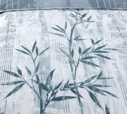 """Наволочки стеганые """"Дзен 3 (бамбук на белом фоне)"""" перкаль 50х70"""