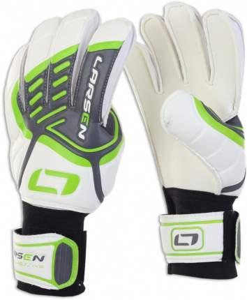 Вратарские перчатки Larsen Aggressive, зеленые/белые, 6