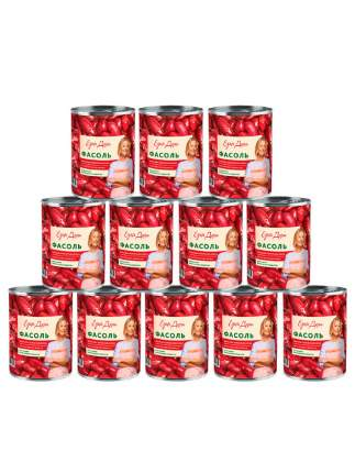 Фасоль Едим дома красная в томатном соусе 400 г 12шт