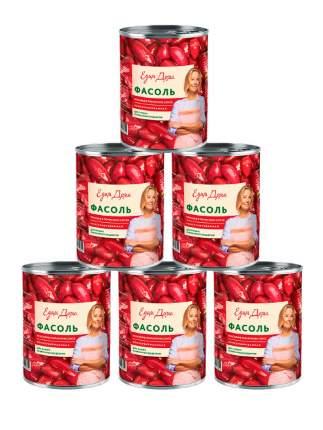 Фасоль Едим дома красная в томатном соусе 400 г 6шт