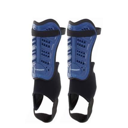 """Щитки футбольные с защитой голеностопа Larsen """"6820N"""", цвет: голубой, размер: L"""
