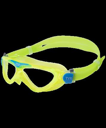 Очки-полумаска TYR Rogue Swim Mask Youth желтая