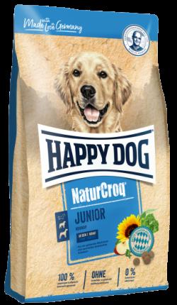 Сухой корм для щенков Happy Dog NaturCroq Junior, все породы, птица, 15кг