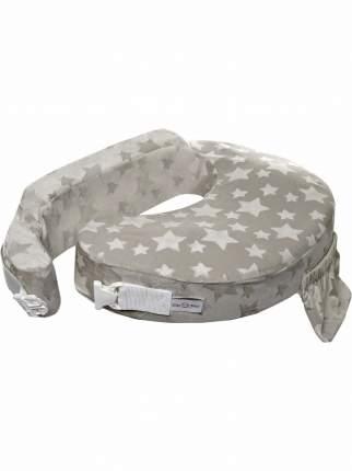 Подушка для кормления эргономичная ErgoFeed Звёзды, серый