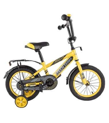 """Детский велосипед Tech Team 134 14"""" желтый"""