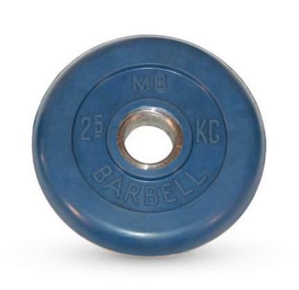 Barbell d 51 мм цветной 2,5 кг (синий)