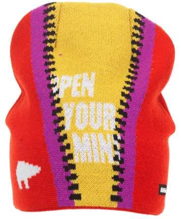 Шапка Eisbar Zip Os Mu, red/mustard/violet/black
