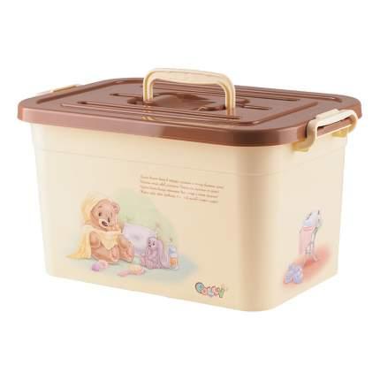 Ящик для хранения игрушек Полимербыт Polly, 10 л