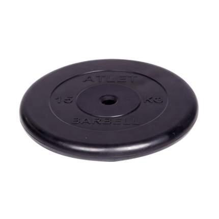 Barbell d 31 мм черный 15,0 кг Atlet