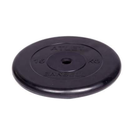 Диск для штанги MB Barbell Atlet 15 кг, 26 мм