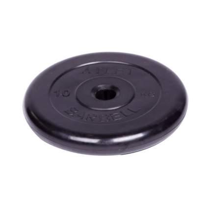 Barbell d 26 мм черный 10,0 кг Atlet