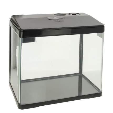 Prime аквариум с LED светильником, фильтром и кормушкой, черный 15 л