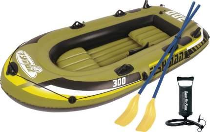 Лодка надувная Jilong Fishman 300-set (JL007208-1N) с веслами и насосом