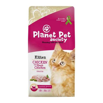 Planet Pet Kitten Chicken&Fresh сухой корм для котят с курицей и свежим мясом 1,5 кг