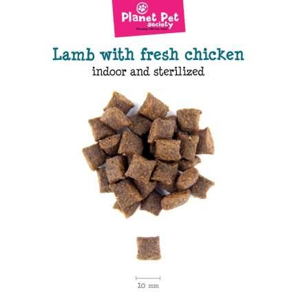 Planet Pet Indoor & Sterilized сухой корм для стерилизованных кошек ягненок курица 1,5 кг