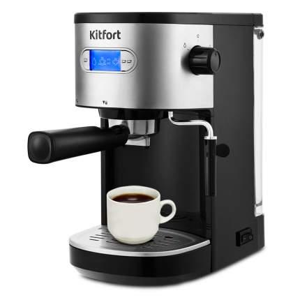 Кофеварка рожкового типа Kitfort KT-740 Black/Silver